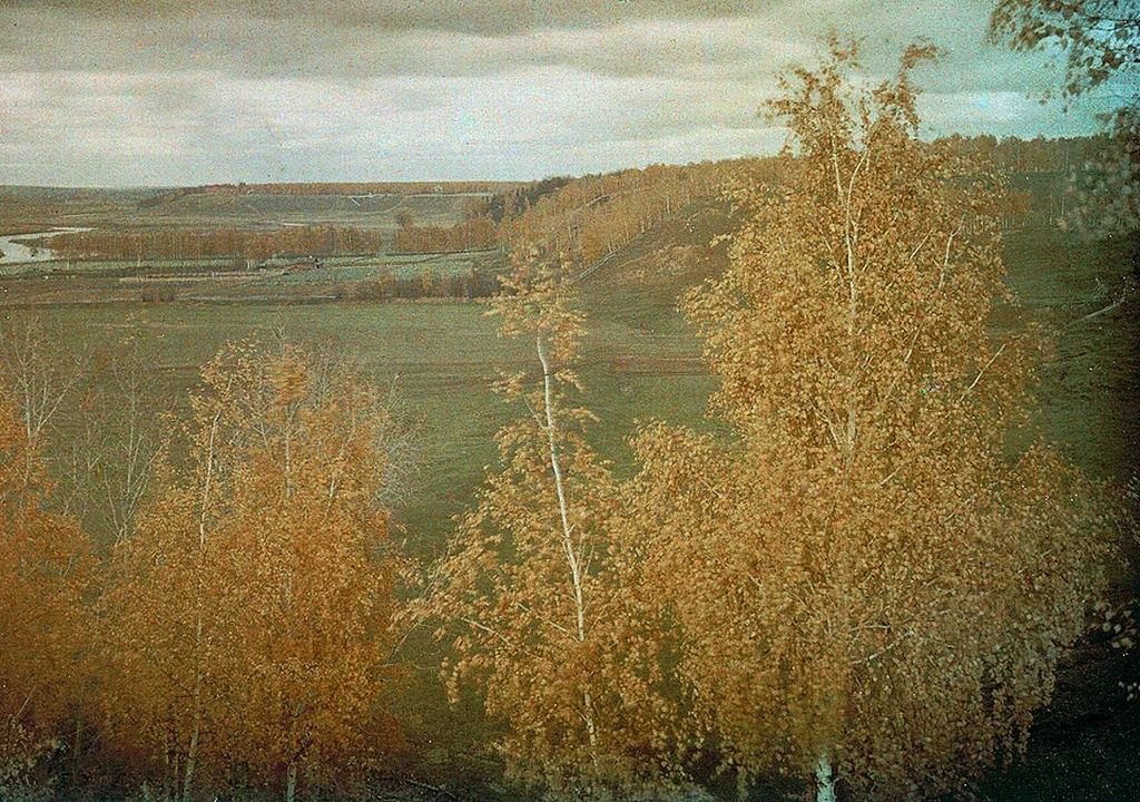 Вид с Масленичной горы на Немецкую Швейцарию и Троицкий лес. 1911