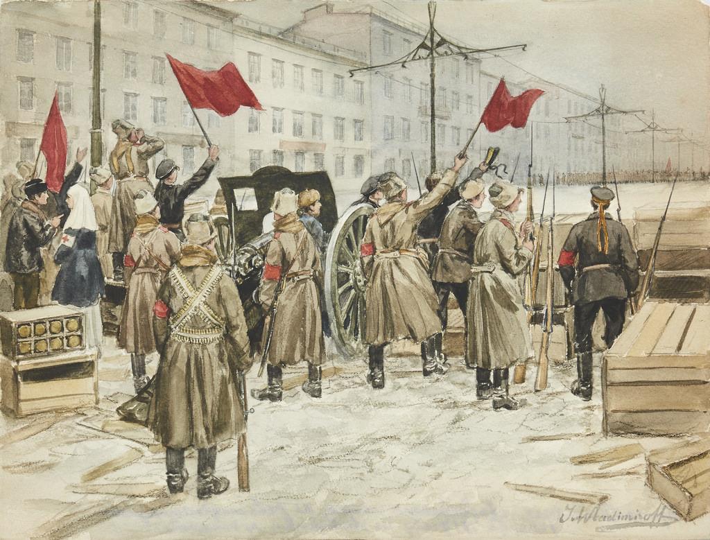 1917. Баррикады красногвардейцев