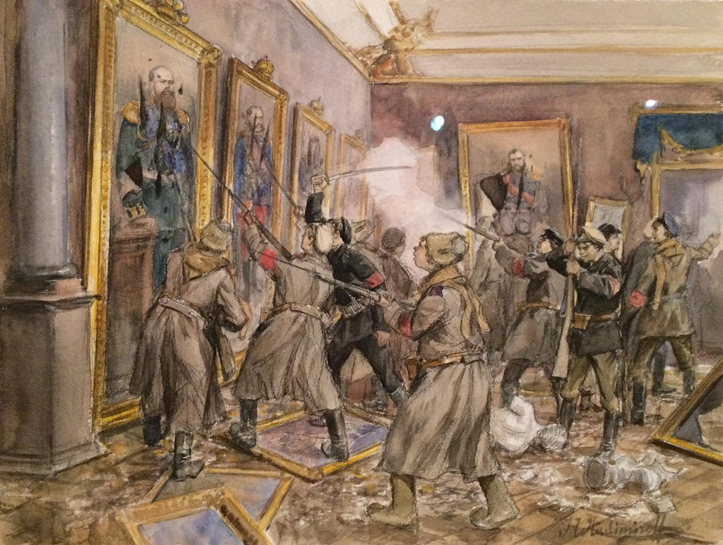 1917. Вандализм в Зимнем дворце в декабре