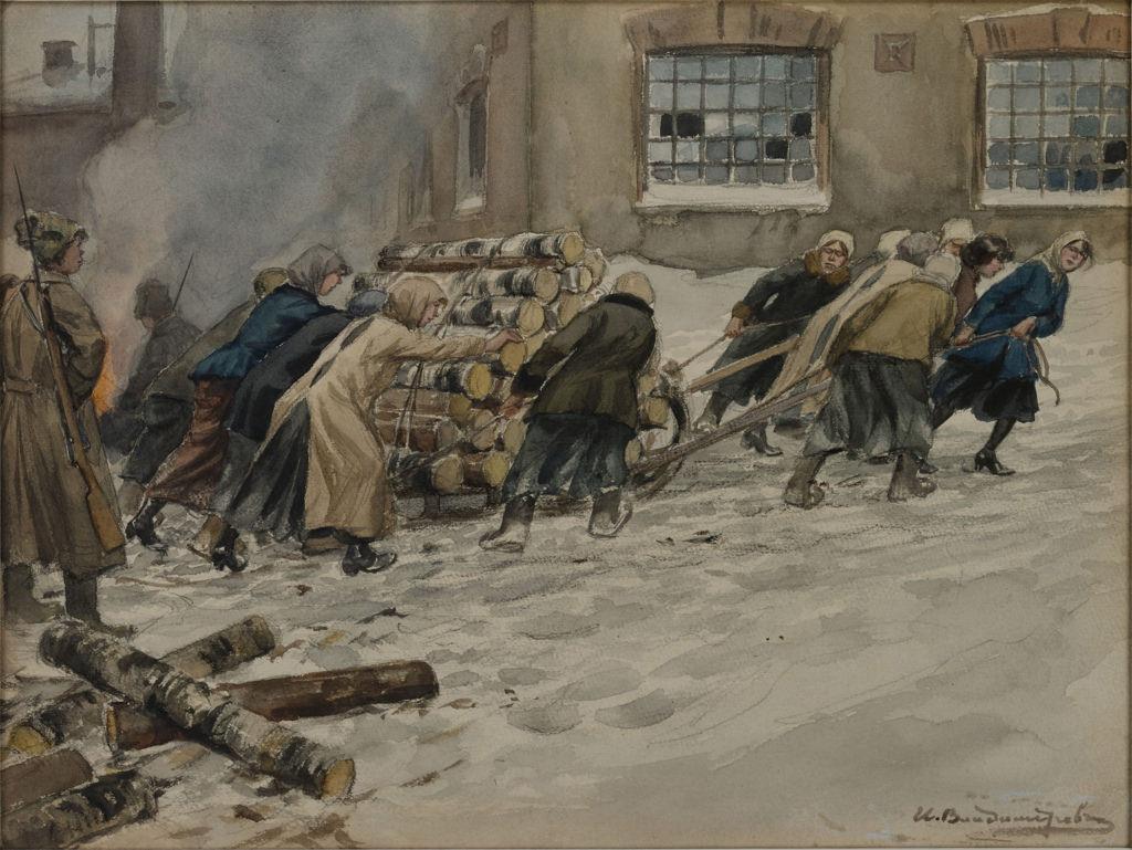 1918. Заготовка дров