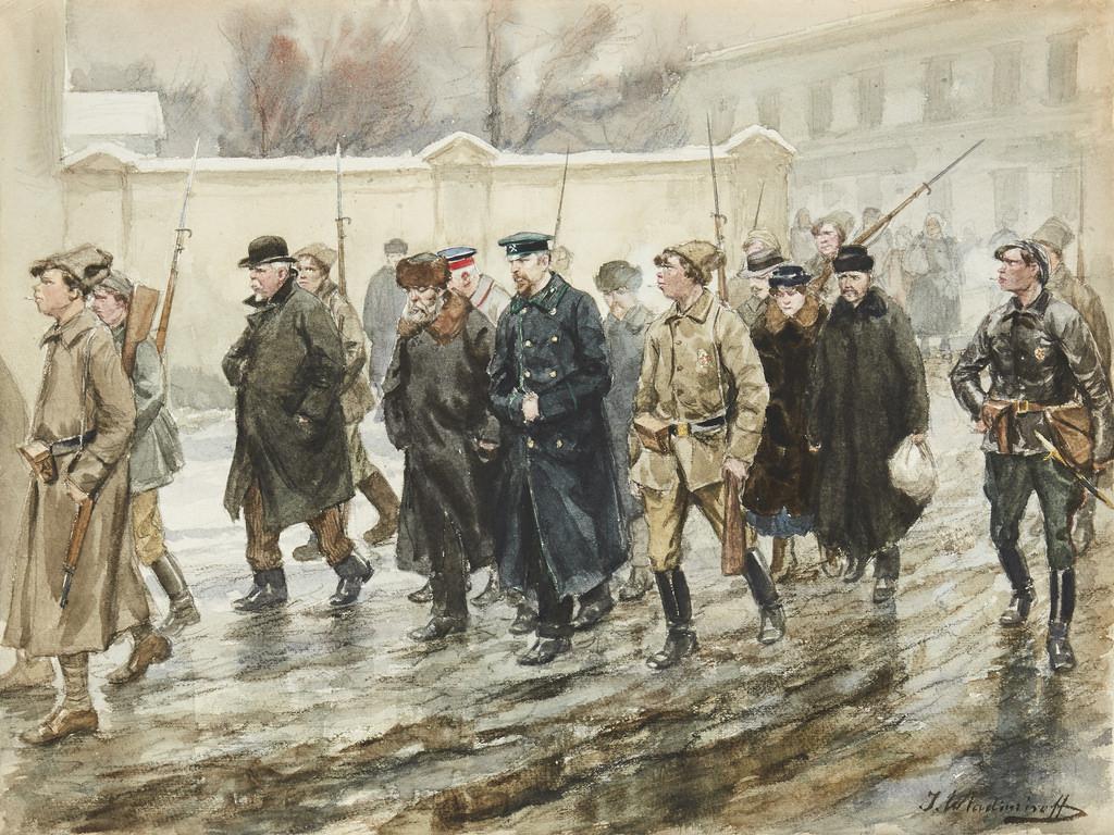 1918. Конвоирование арестованных