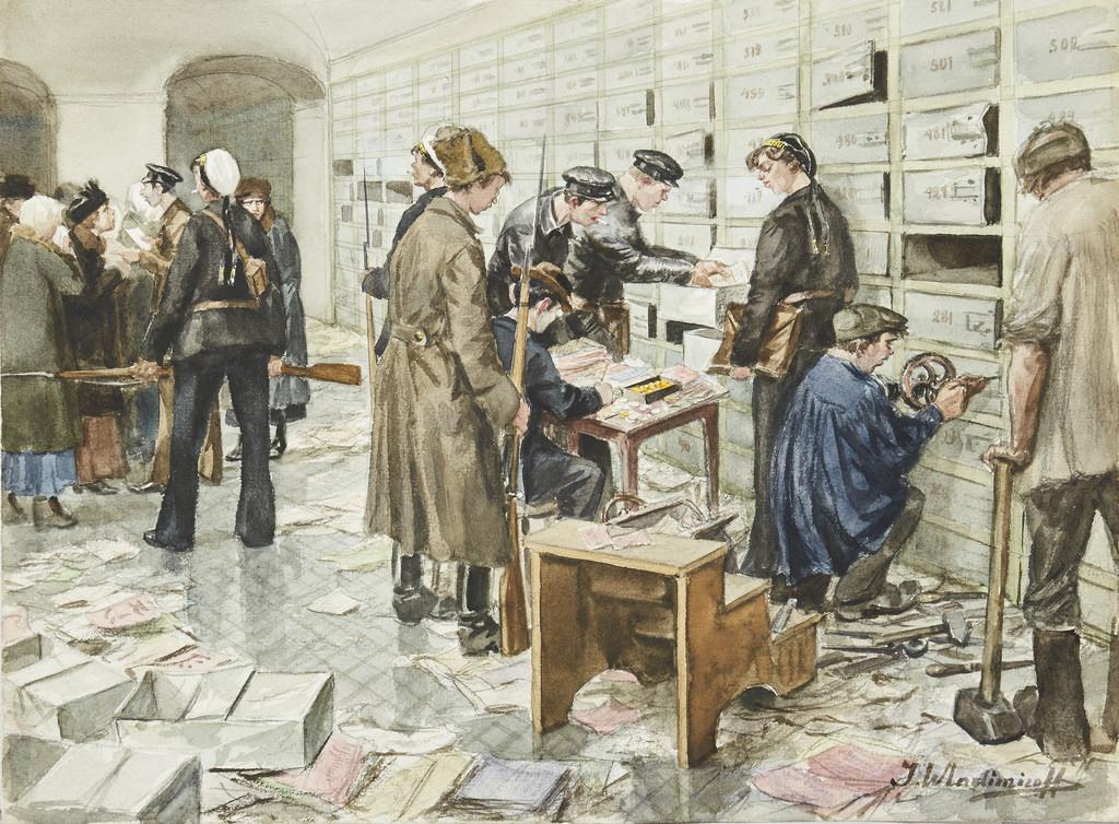 1918. Разграбление банковских ячеек