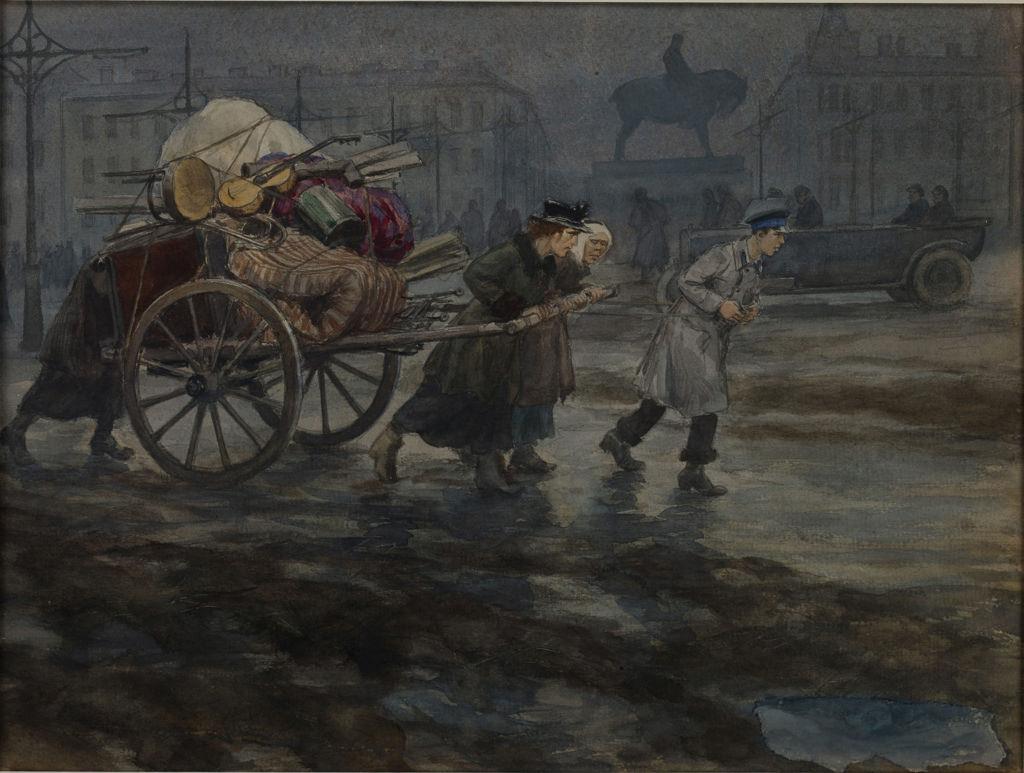 1918. Семья бывших, согнанная с квартиры