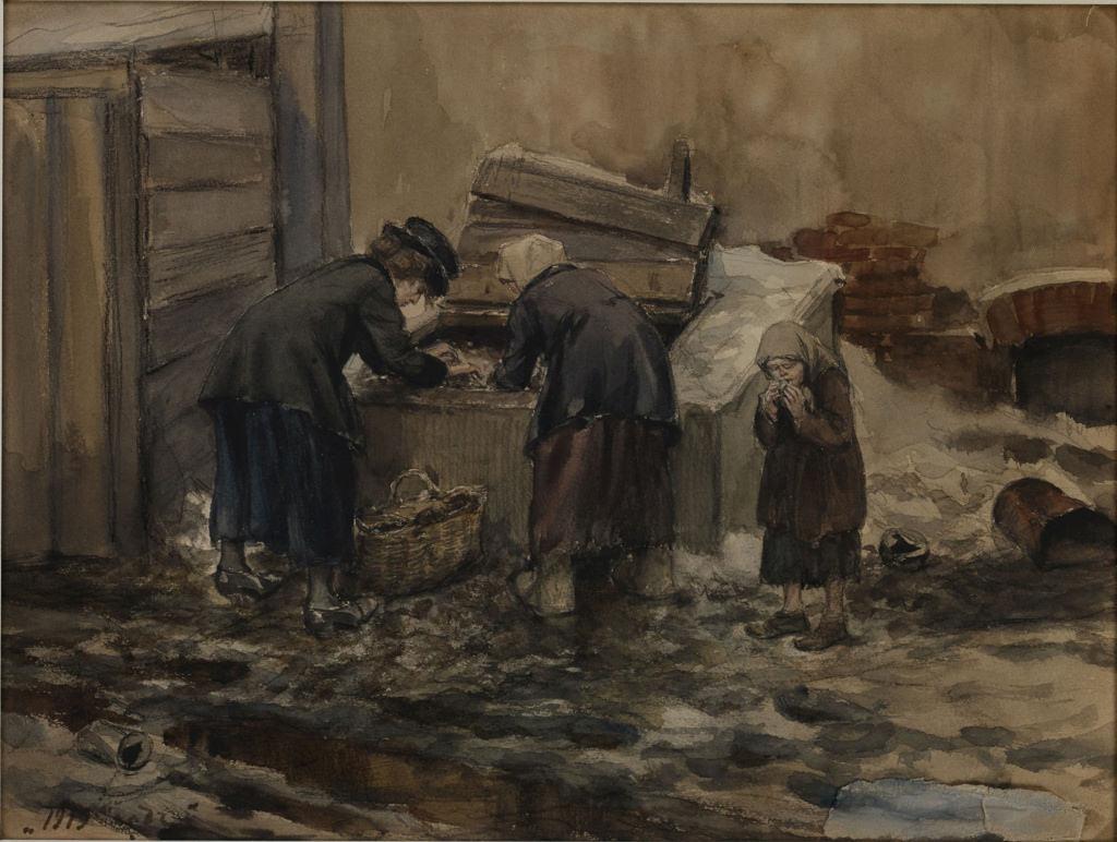 1919. Поиски съедобного в помойной яме