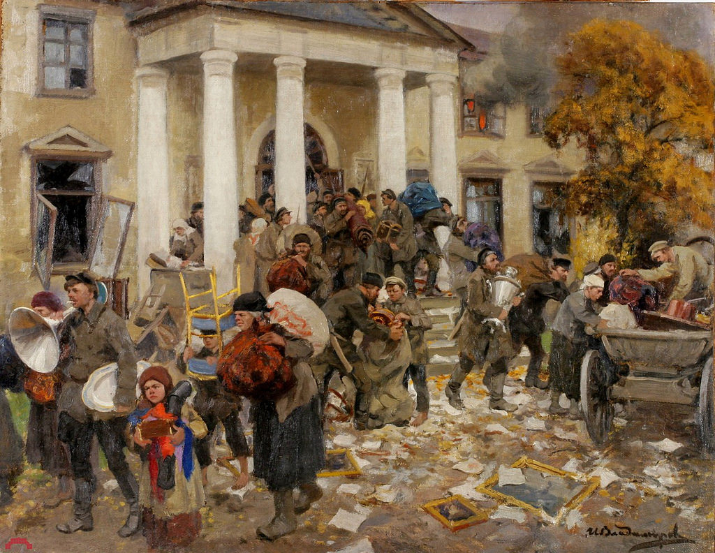 1919. Разгром помещичьей усадьбы.