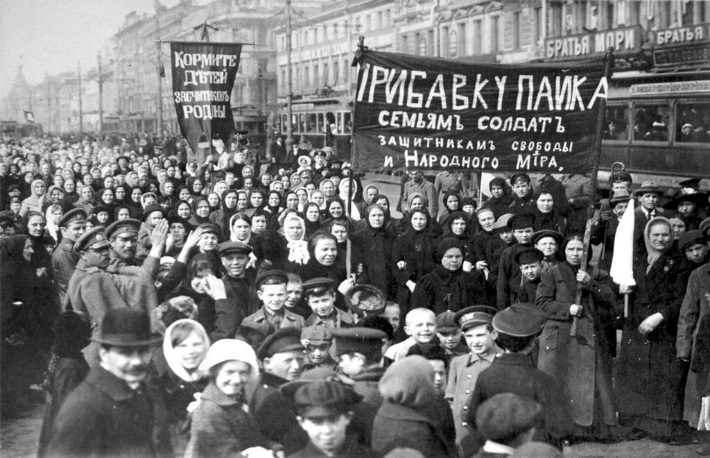 Демонстрация рабочих Путиловского завода