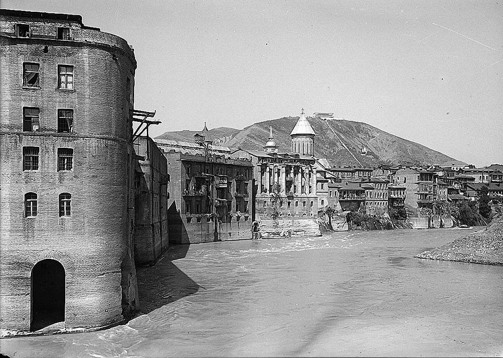 1936. Тифлис. Набережная Мтквари, до реконструкции