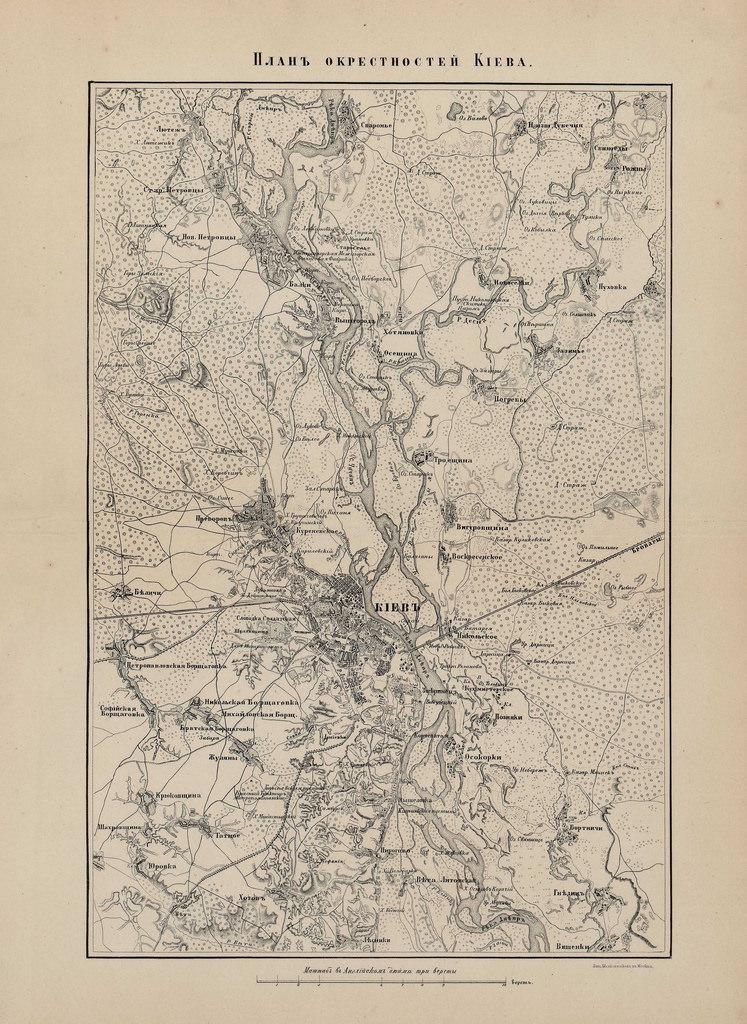 План окрестностей Киева
