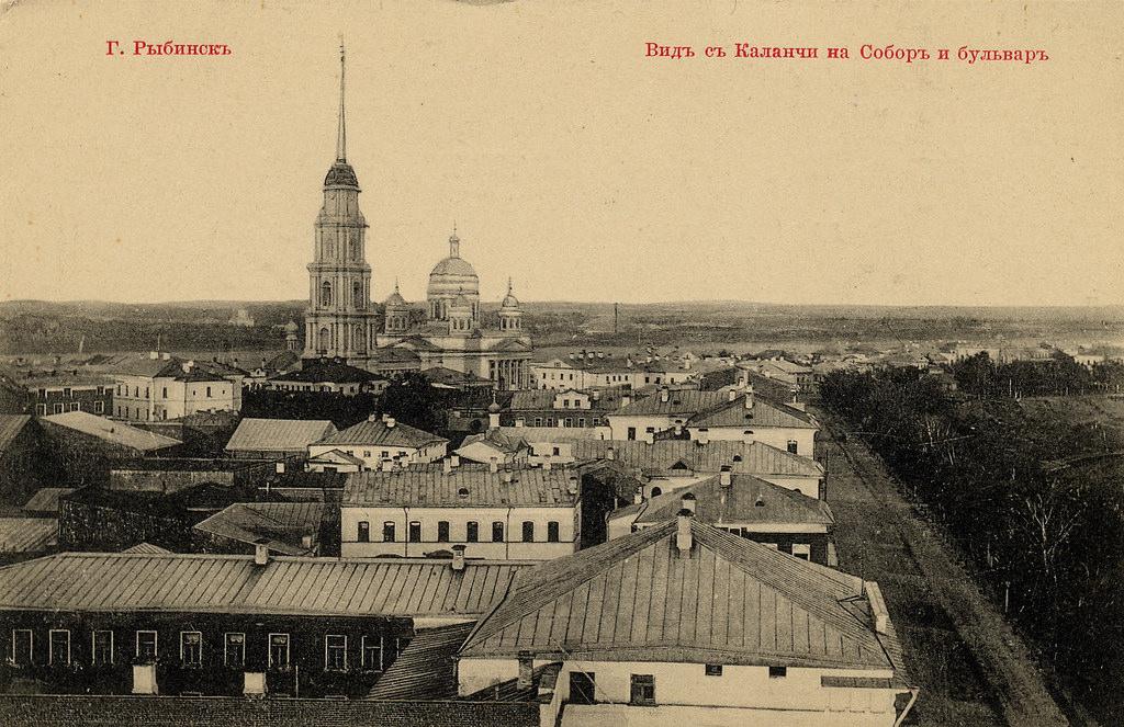 Вид с каланчи на Собор и бульвар