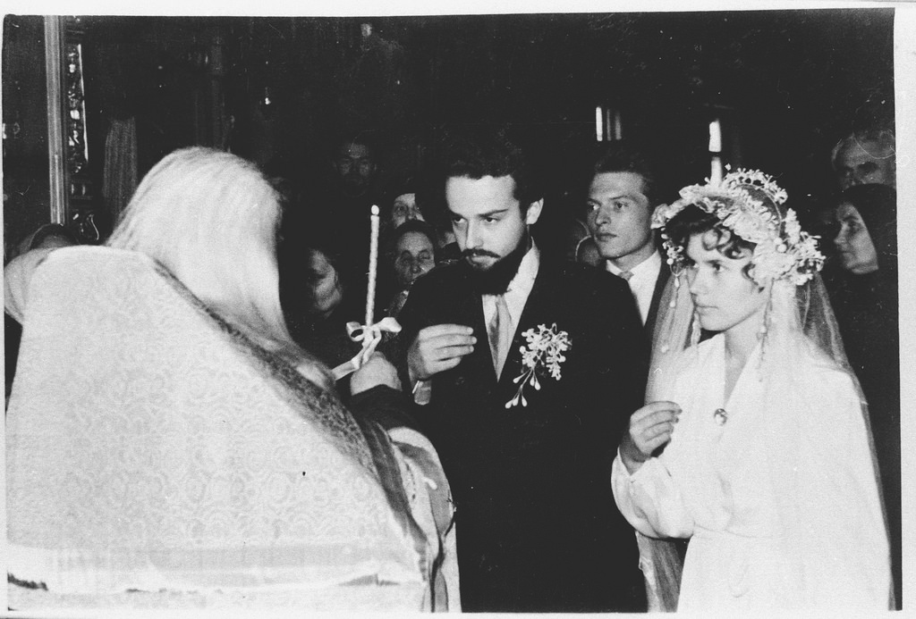 1957 г. Венчание.