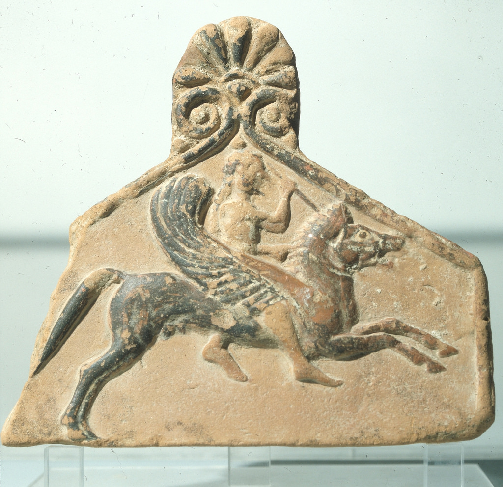 Археологический музей. Беллерофон на Пегасе