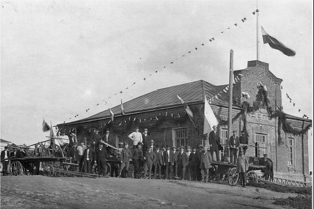 Открытие вольного пожарного общества. 1910