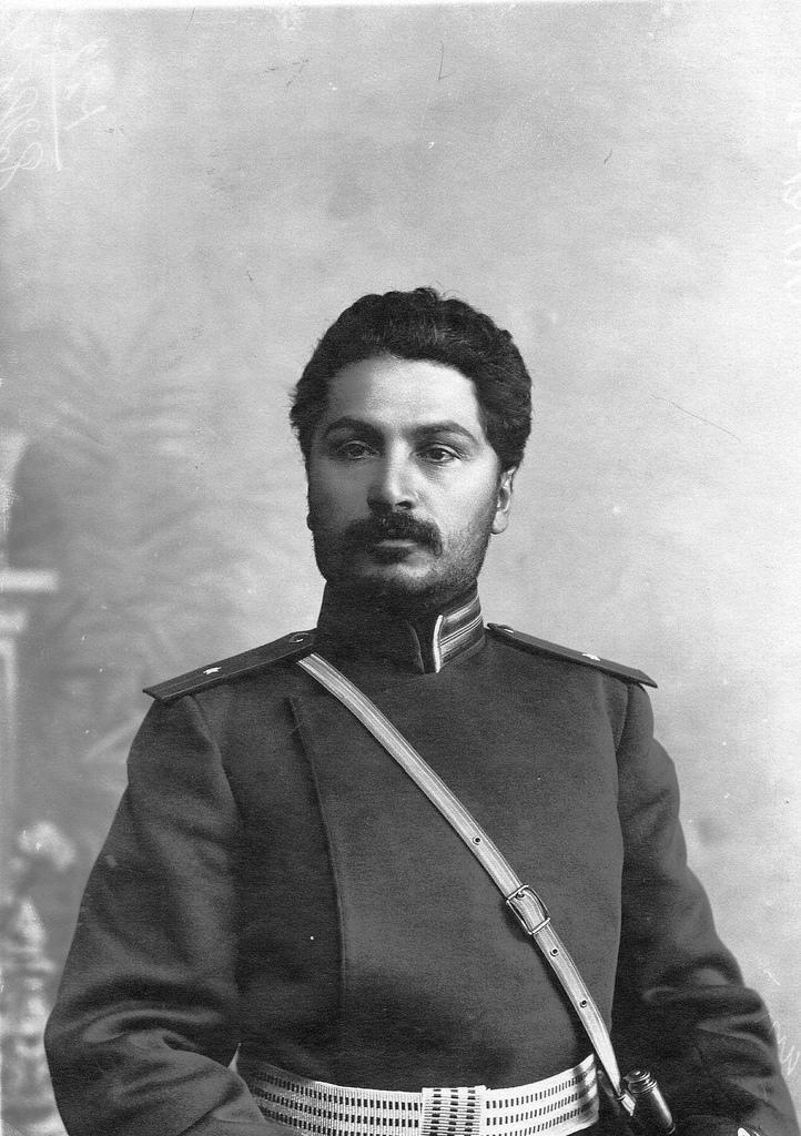 Портрет подхорунжего полка, корнета армейской кавалерии Патканвяна. До 1909