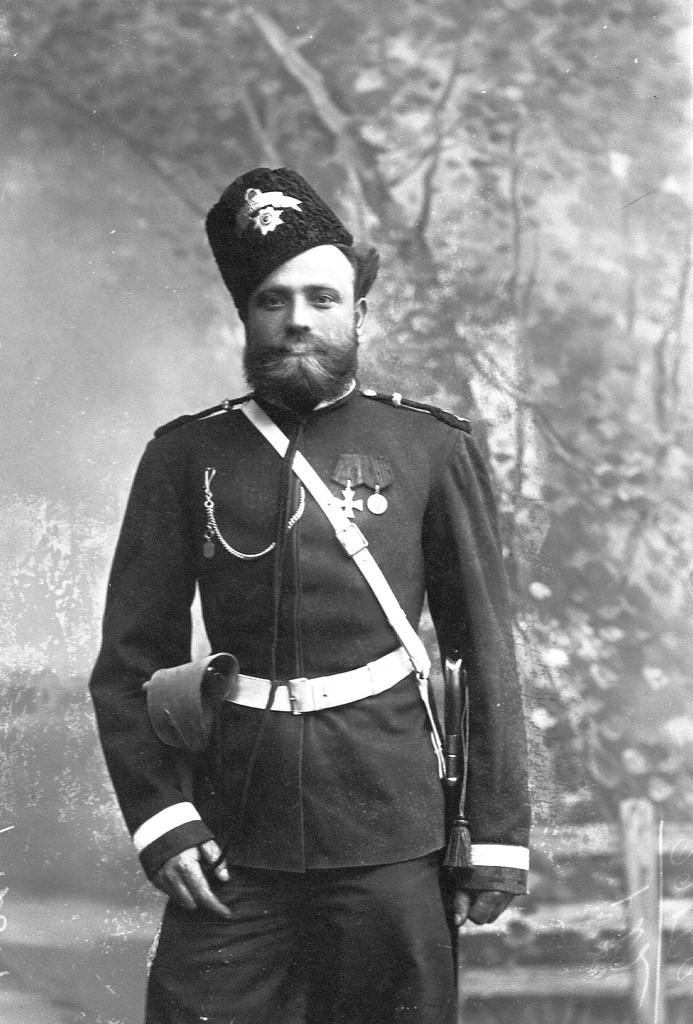 Портрет урядника Лейб-гвардии казачего полка. 1903