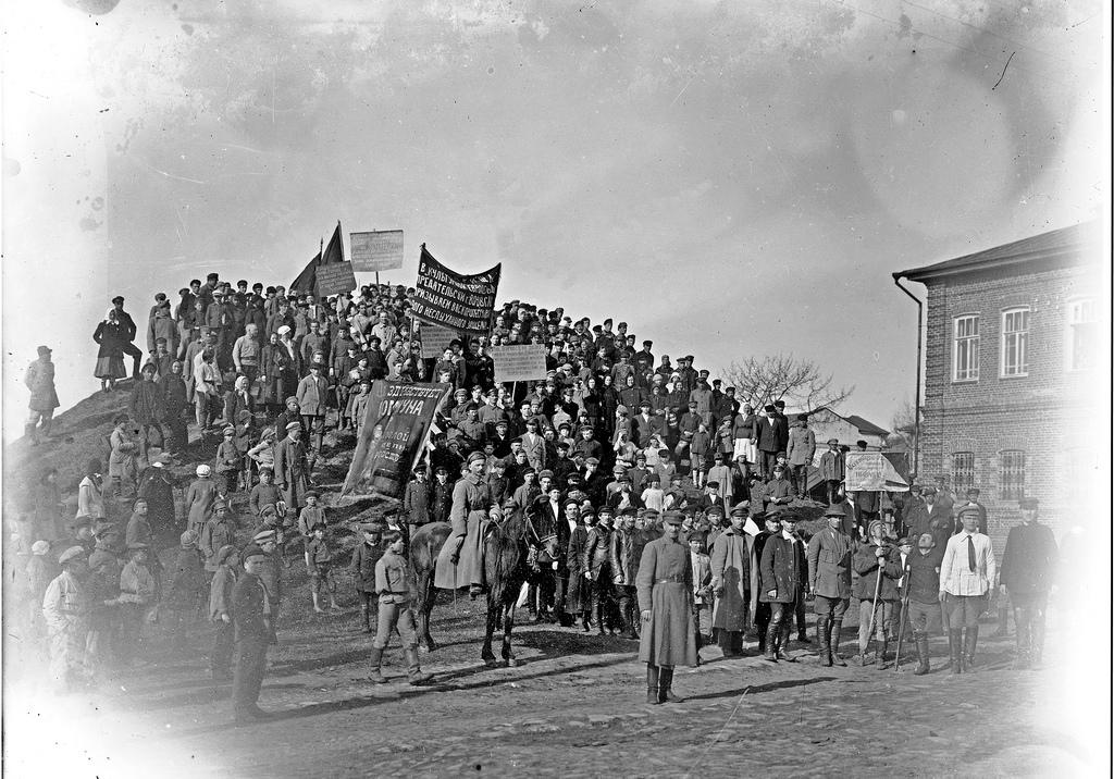 1923. Митинг по случаю убийства 10 мая посла Воровского.