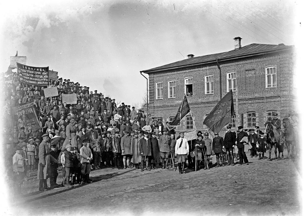 1923. Митинг по случаю убийства 10 мая посла Воровского