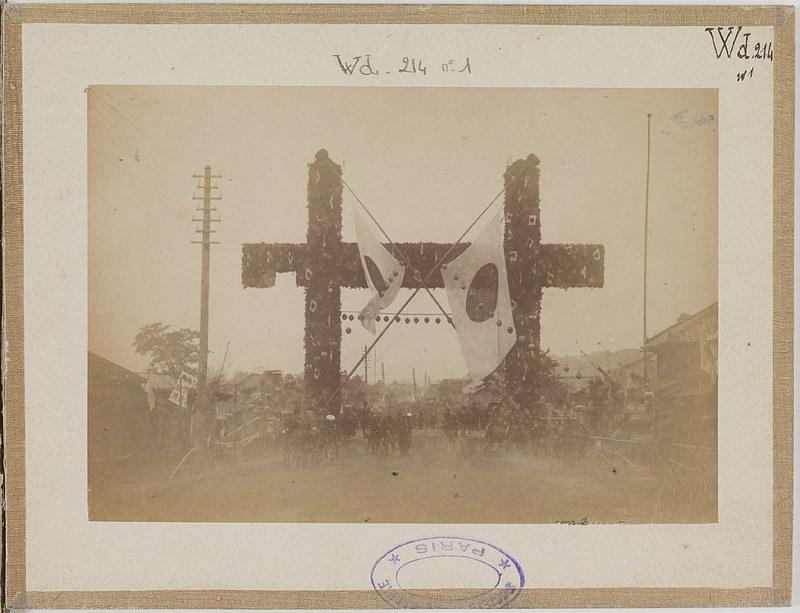 [Альбом де 23 фот. крупные военные маневры в Японии в 1892 -05
