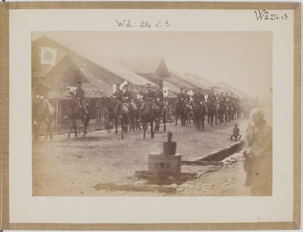 [Альбом де 23 фот. крупные военные маневры в Японии в 1892 -07
