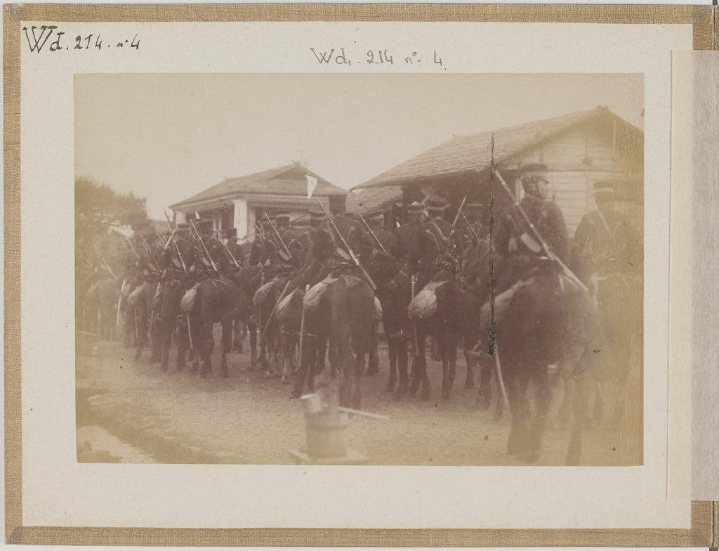 [Альбом де 23 фот. крупные военные маневры в Японии в 1892 -08