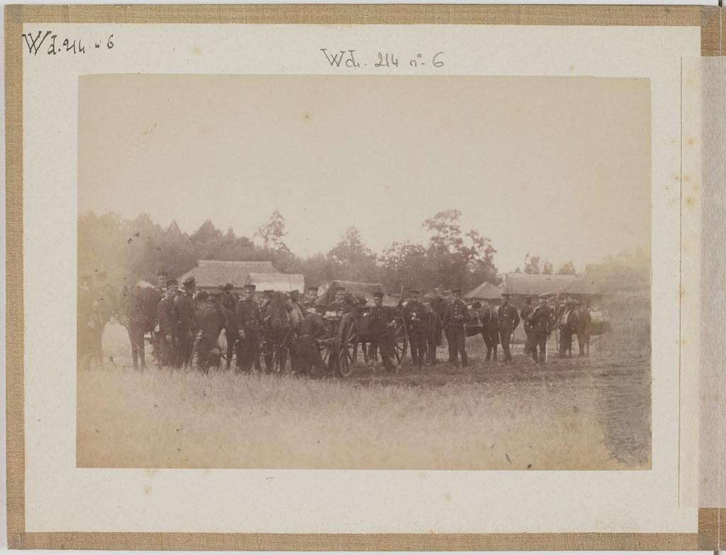 [Альбом де 23 фот. крупные военные маневры в Японии в 1892 -10