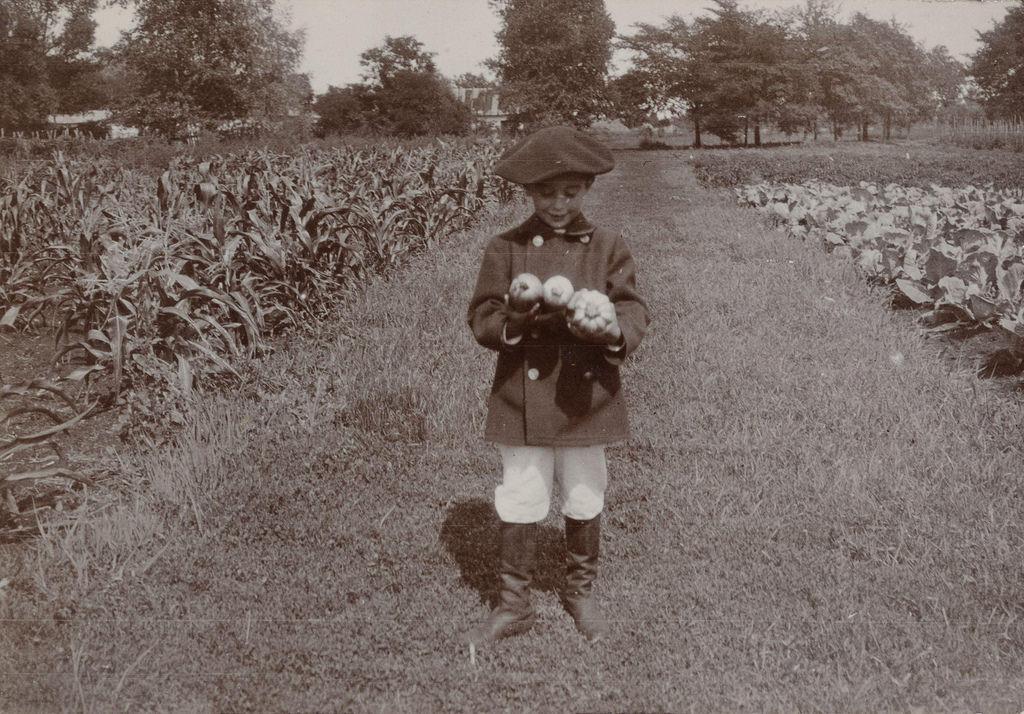 Сын графа Д.С. Шереметева Сергей с кабачками
