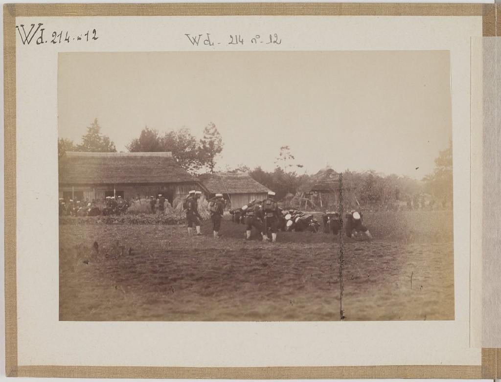 [Альбом де 23 фот. крупные военные маневры в Японии в 1892 -16