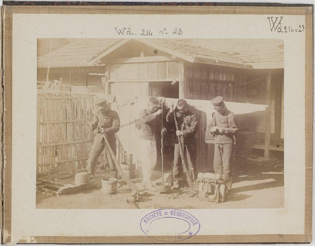 [Альбом де 23 фот. крупные военные маневры в Японии в 1892 -27