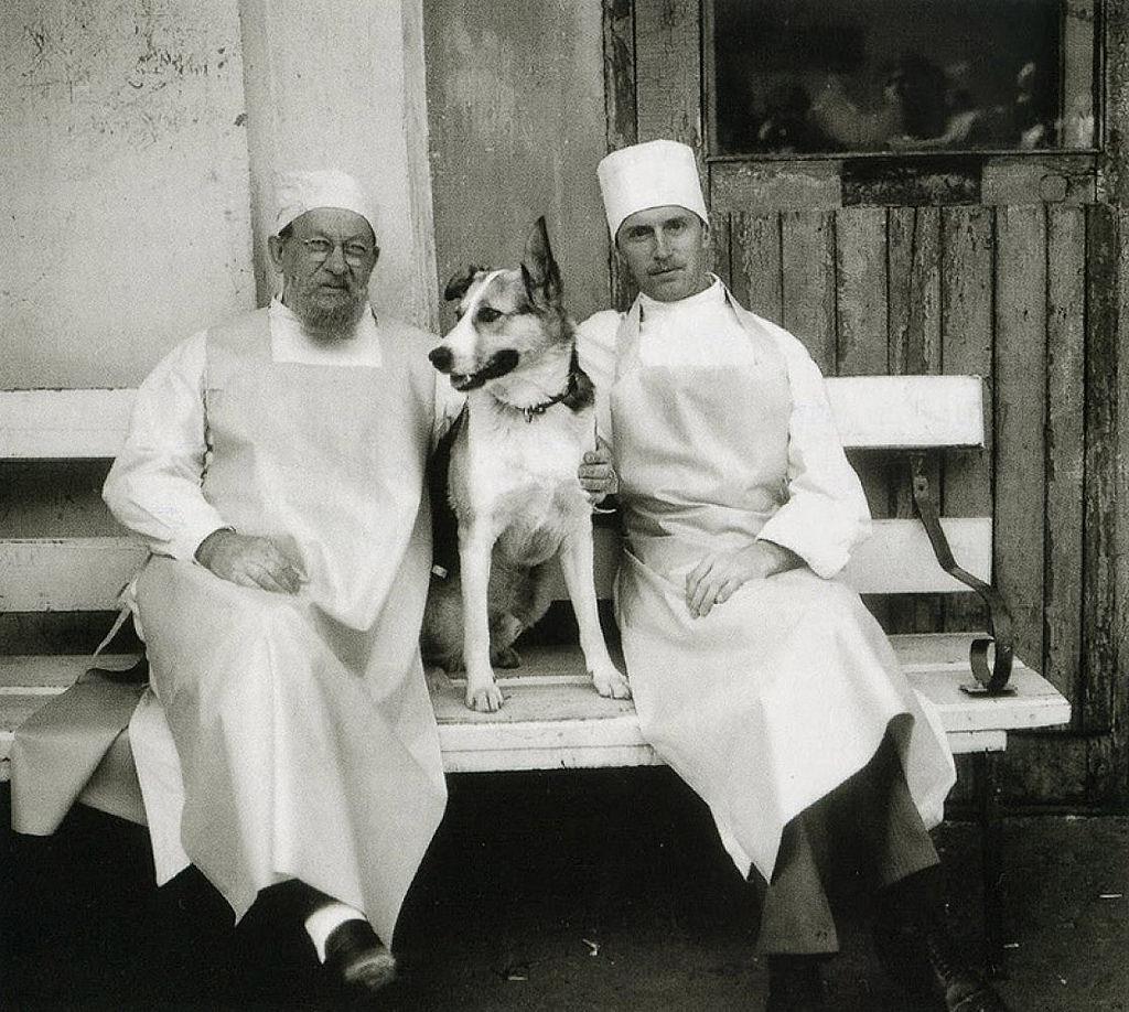 На съемках фильма «Собачье сердце»