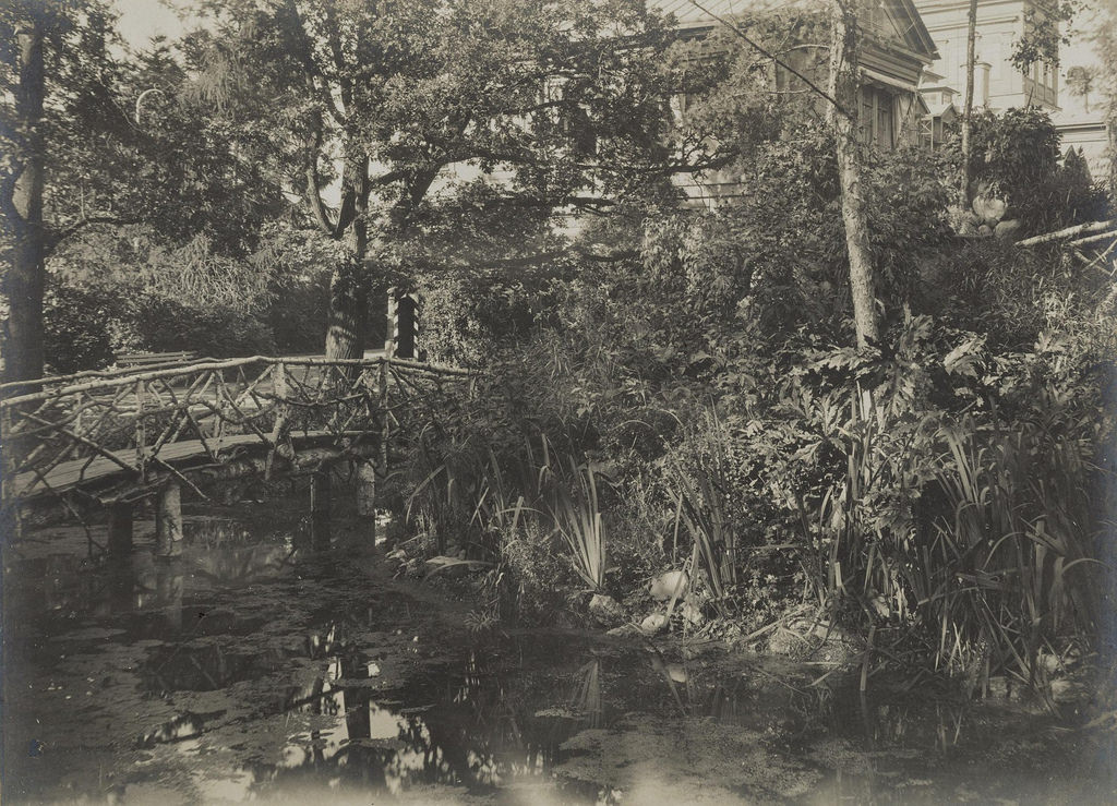 1900-е. Парк и пруд с мостиком