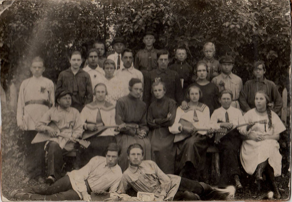 1926. Оркестр балалаечников. Пензенская обл. Лунинский район. село Липовка. июль