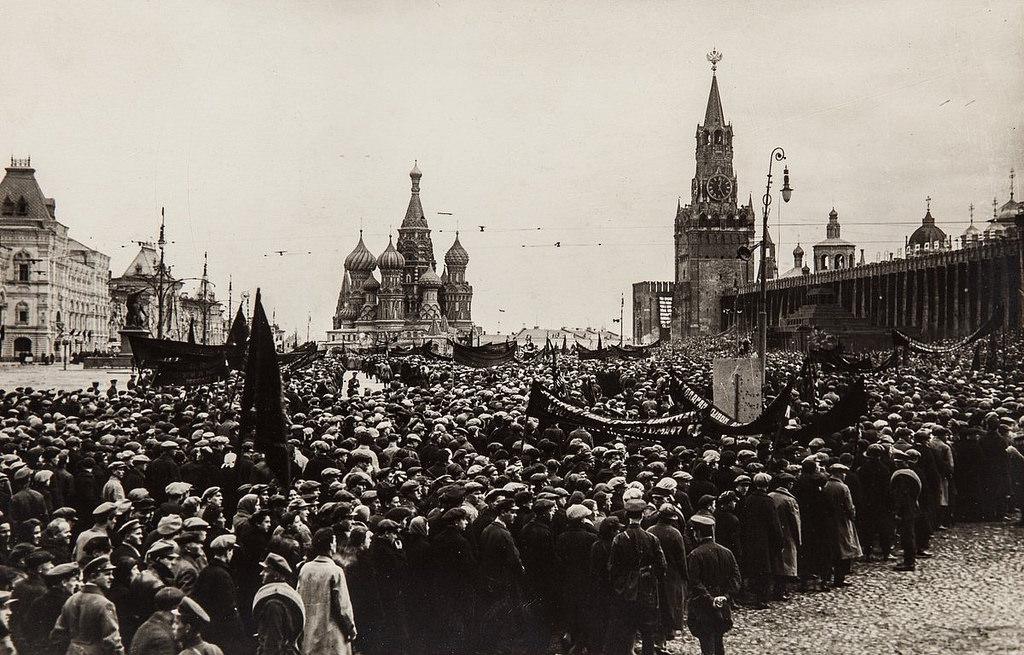 1928. Демонстрация на Красной площади 1 мая