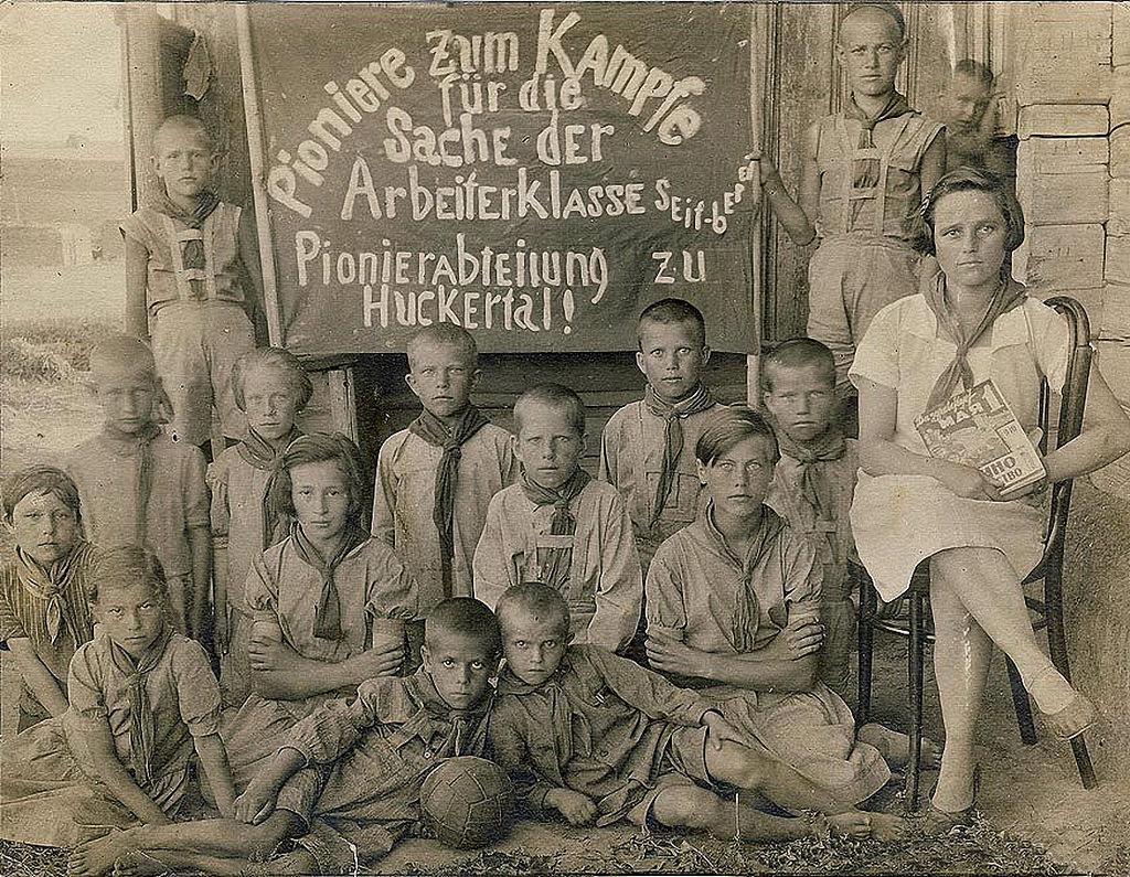 1933. Пионеры из села Гуккерталь АССР Немцев Поволжья
