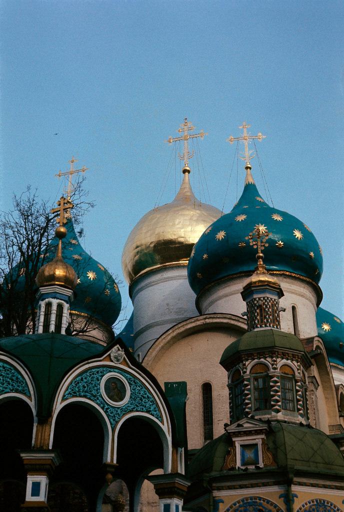 1972. Троице-Сергиева лавра. Купола Успенского собора