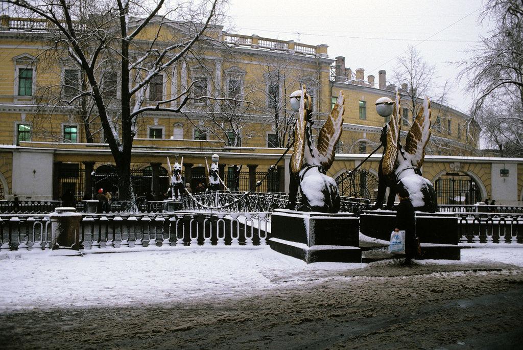 1983. Ленинград. Банковский мостик