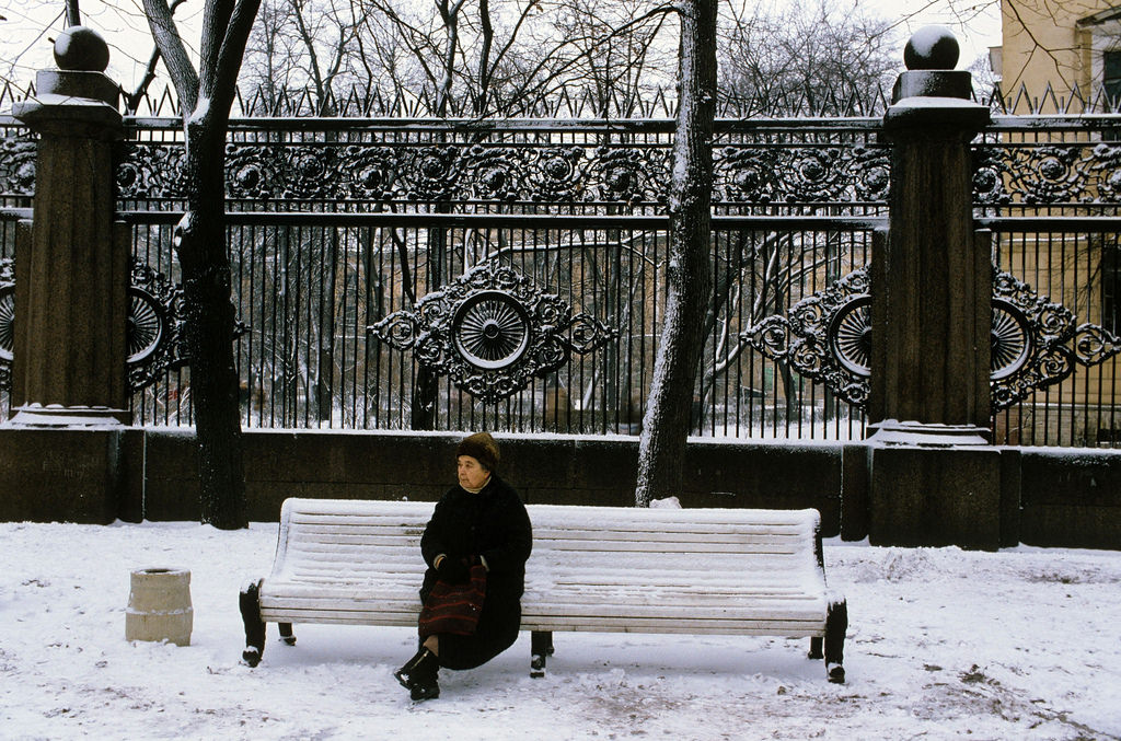 1983. Ленинград. В Воронихинском сквере