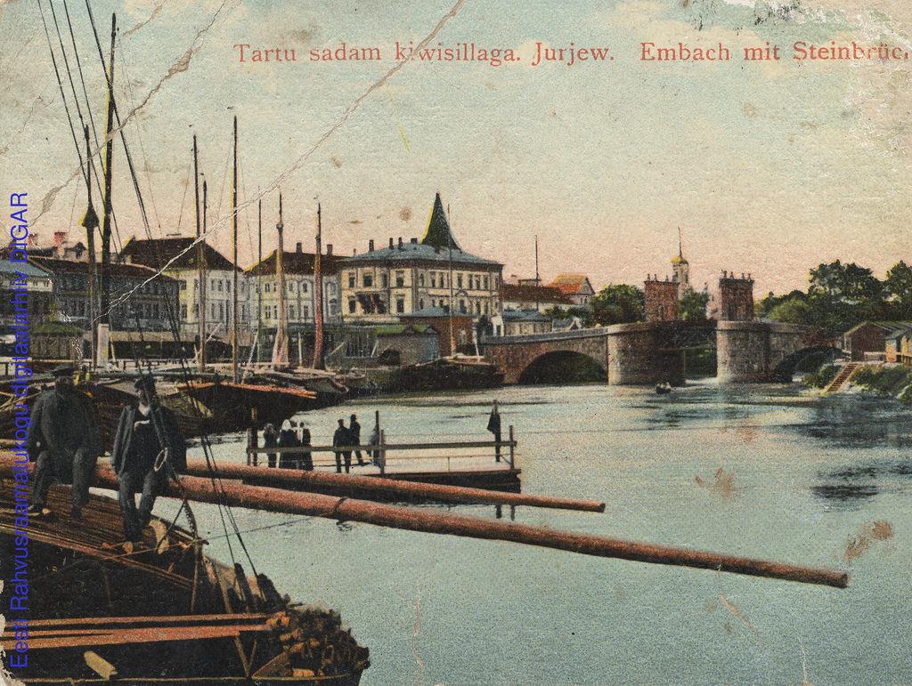 Река Омовжа с Каменным мостом.