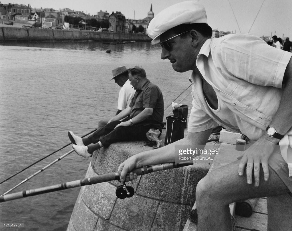 1950-е. Рыбаки на Сене. Париж