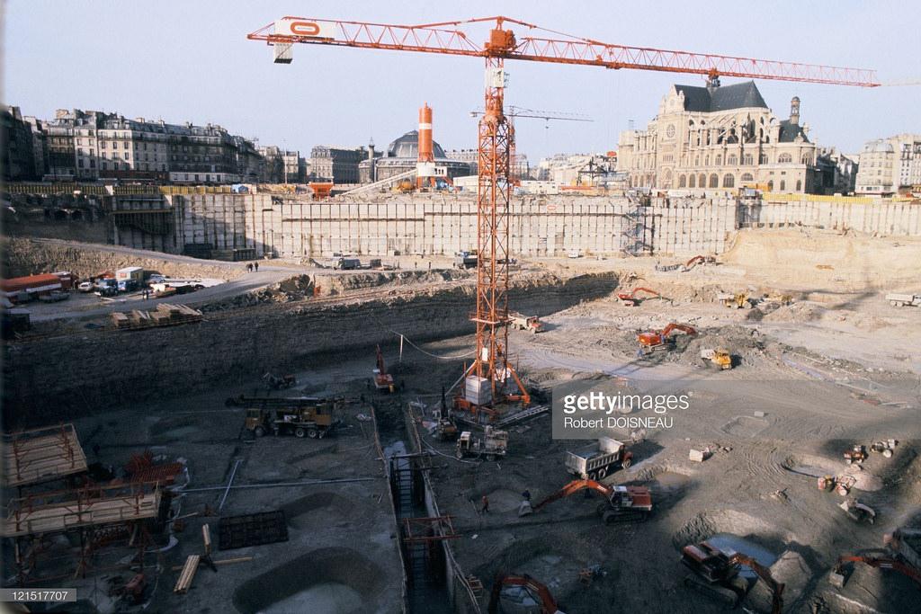 1973. Строительство нового рынка Ле-Аль.