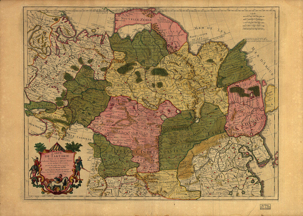 1706.  Карта Тартарии