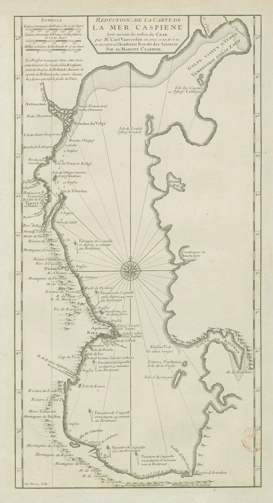 1710. Карта Каспийского моря