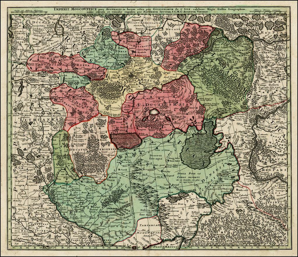 1740. Карта южной части России,