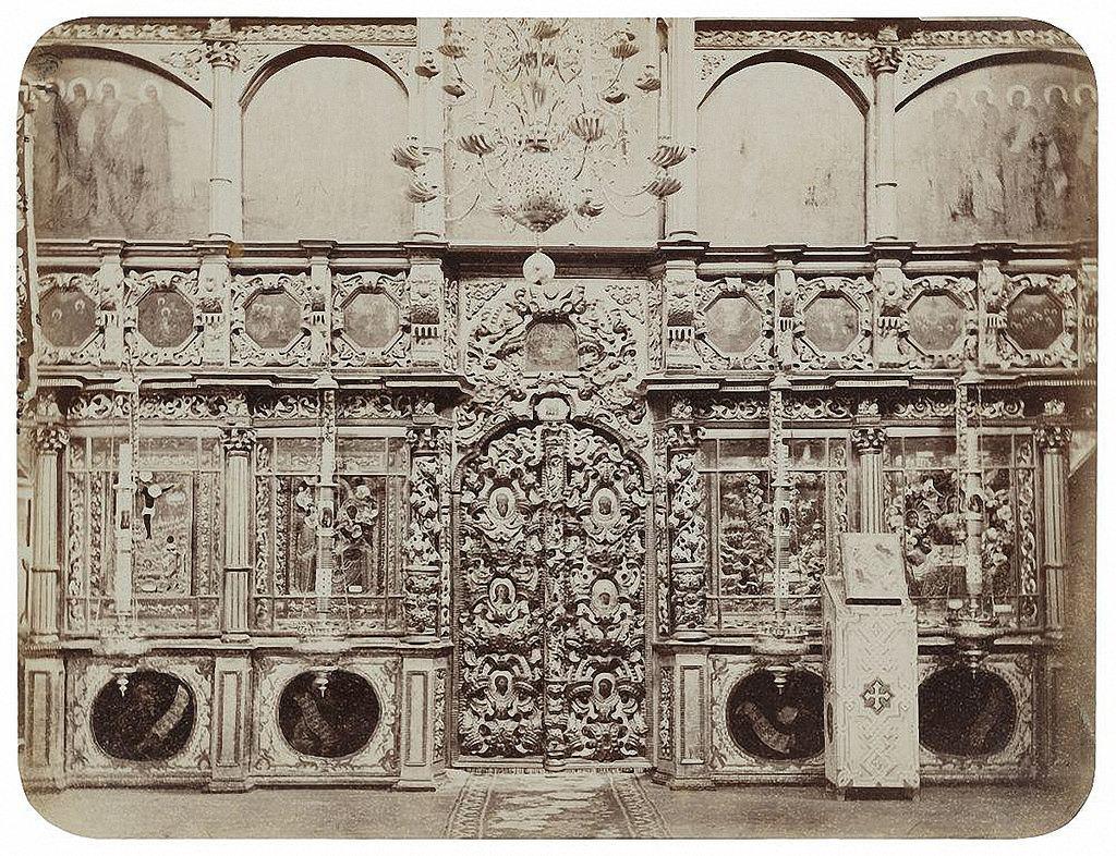 Иконостас храма Живоначальной Троицы в Останкине. 1868-1870