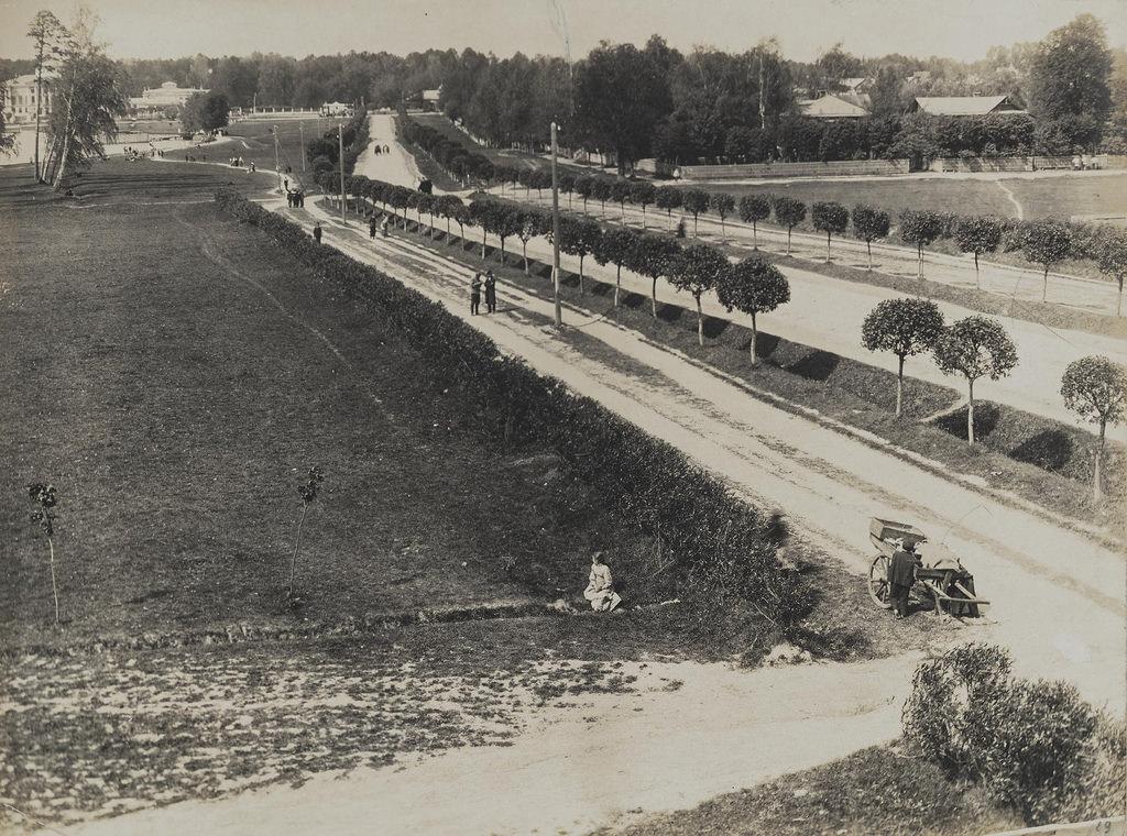 Останкино. Дорога из Марьиной Рощи в Останкино. 1913