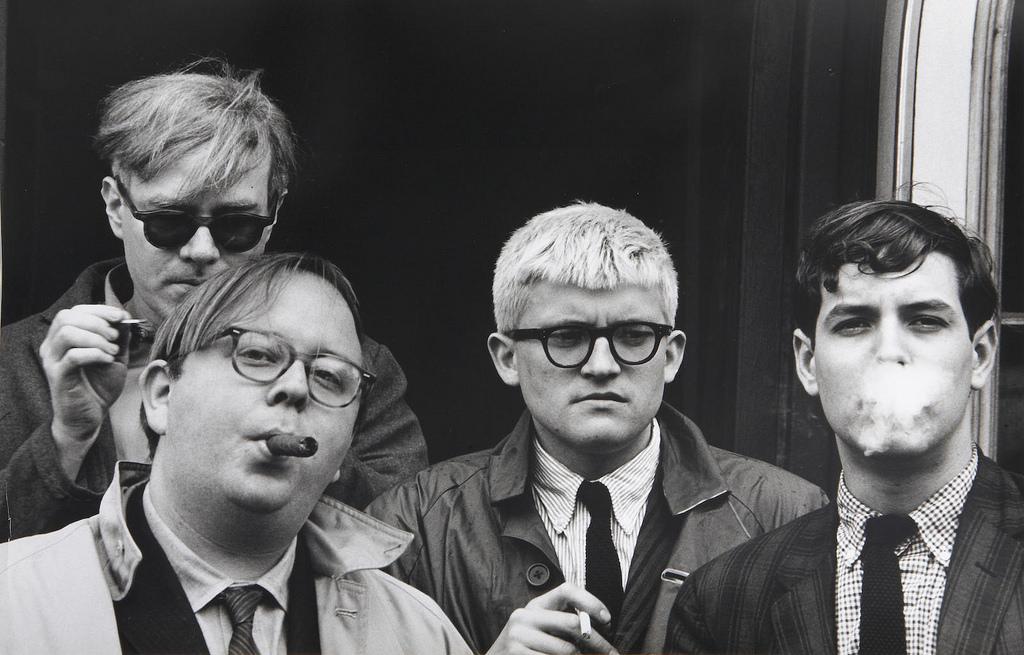 1963. Энди Уорхол, Генри Гелдзахлер, Дэвид Хокни и Дэвид Гудман