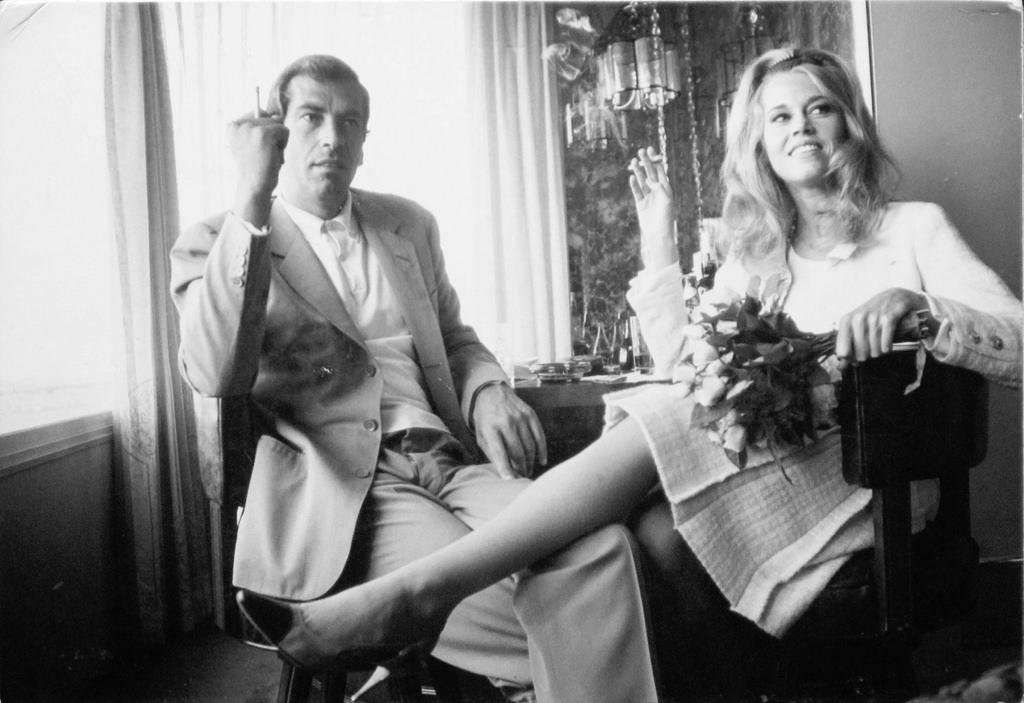 1964. Джейн Фонда и Роже Вадим на их свадьбе в Лас-Вегасе