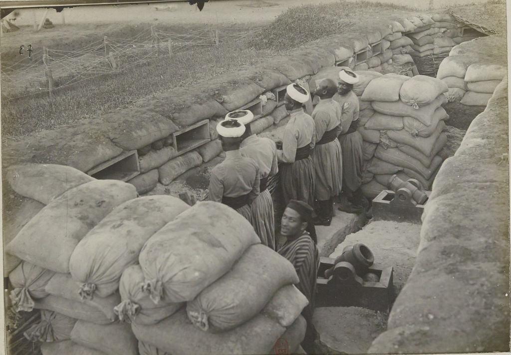 Траншеи, построенные немецкими заключенными
