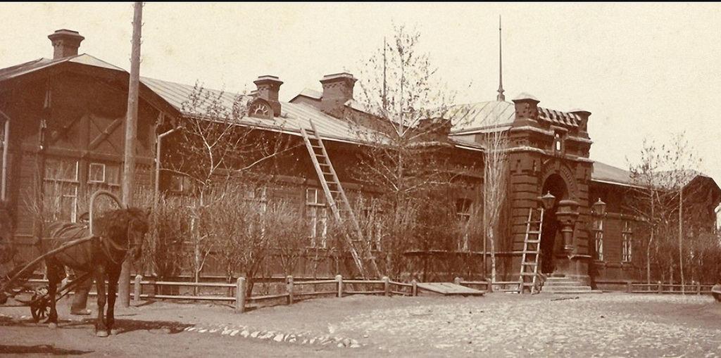 Покровская слобода. Вокзал 1903