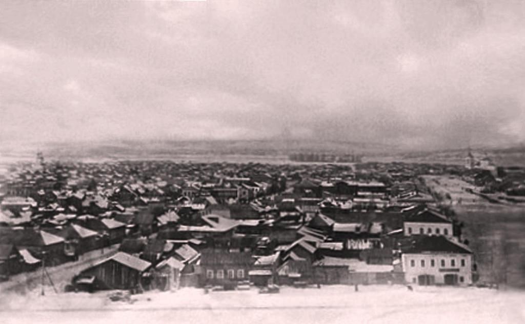 Покровская слобода. Панорама с колокольни Троицкой церкви