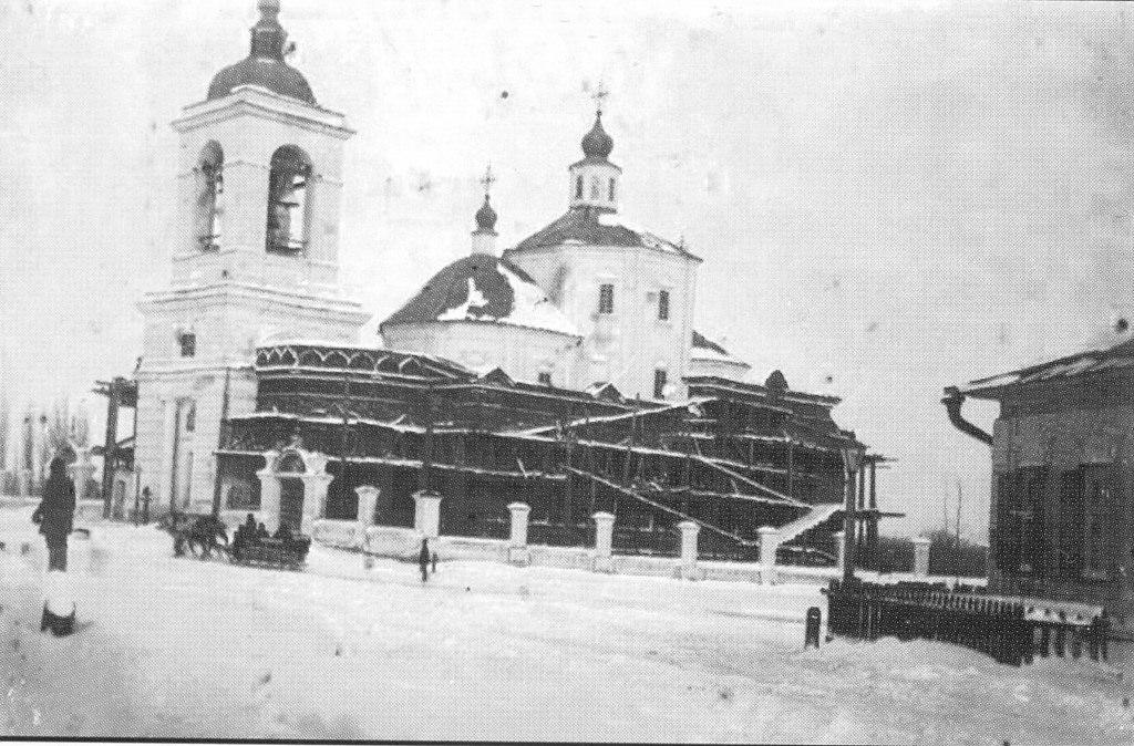 Покровская слобода. Реконструкция Покровской церкви. 1890