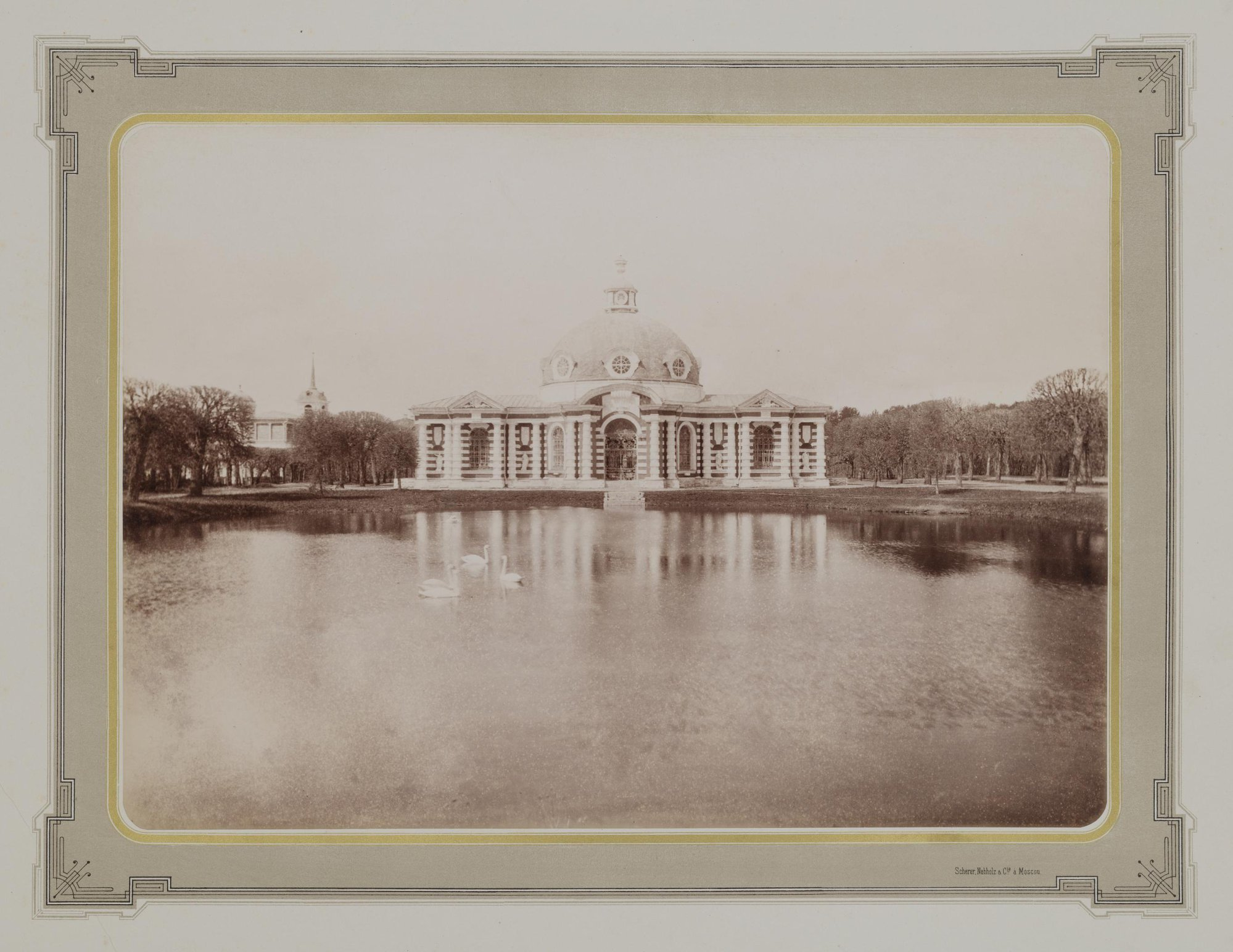 1883-1886. Усадьба Кусково. Грот на берегу пруда